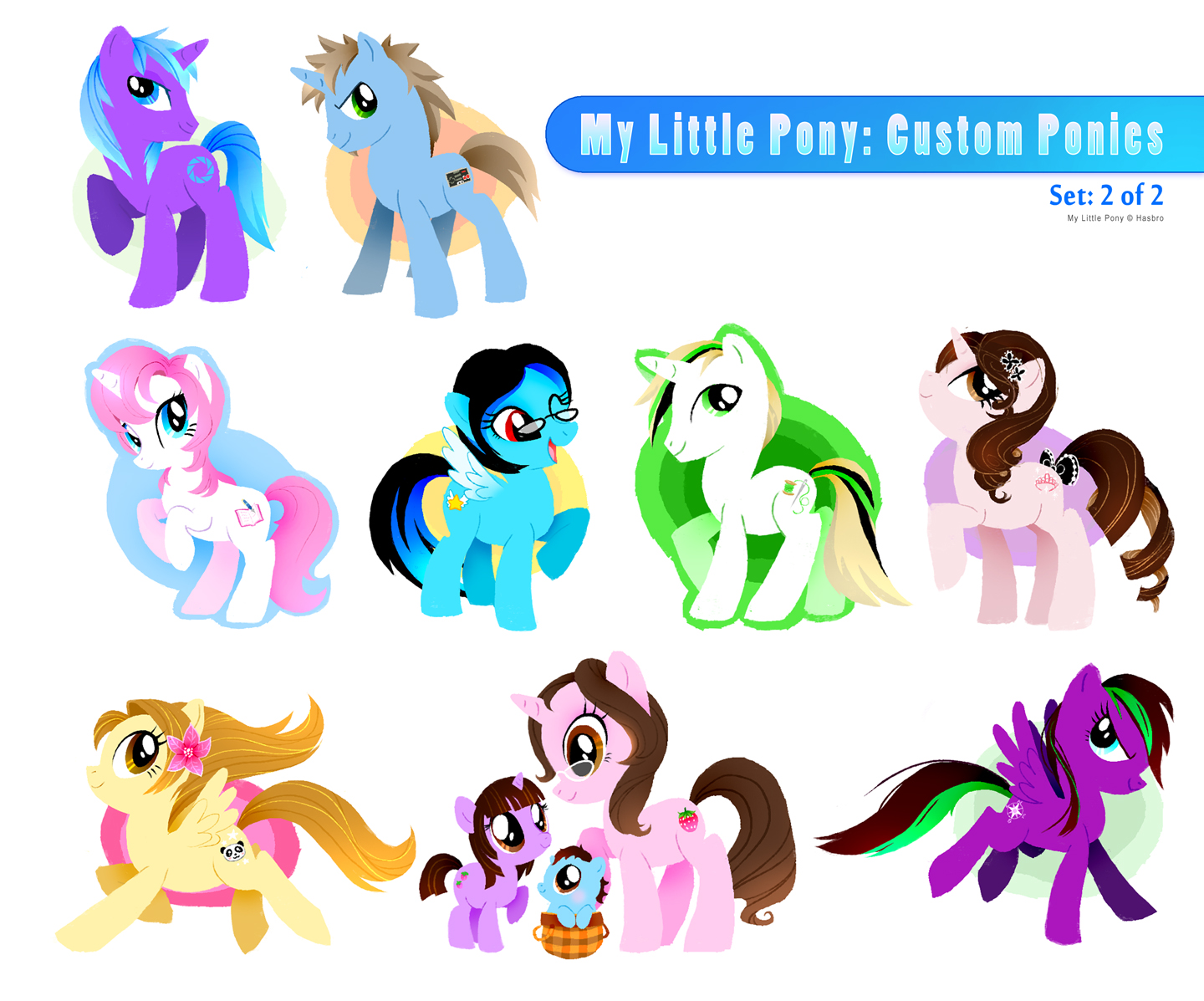 My Little Pony:Custom Ponies 2 by RinTau