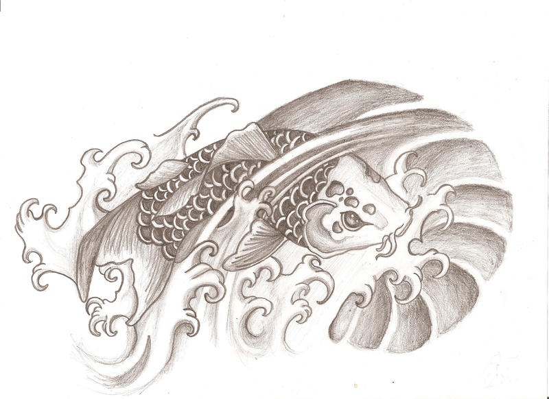 Koi Tattoo Design by sammyboyb on deviantART