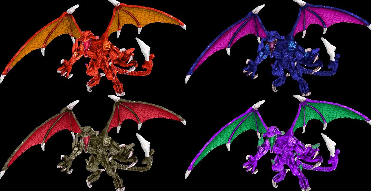 Smash Palettes - Ridley by Chameleon-Veil