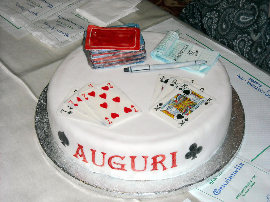 Playing Cards Cake Decorations