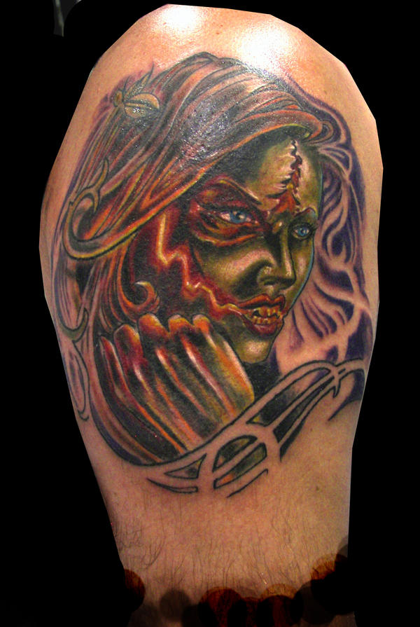 Zombie Girl Cover up Tatto Zombie Girl Cover up Tatto Graffiti_lady Taattoo