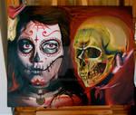 dia de los muertos paint