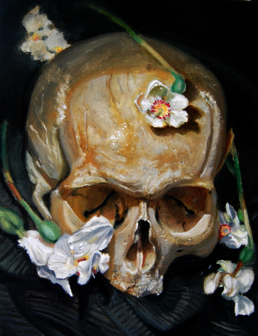 skull flowers by tattooneos on DeviantArt