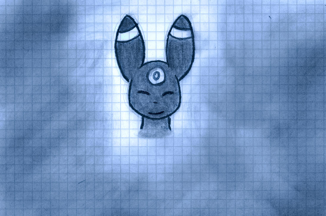 Graph Paper Umbreon by RioalAmanecer