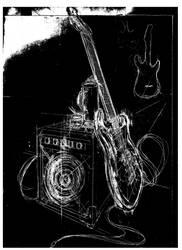 Rockdetarde - negative sketch version