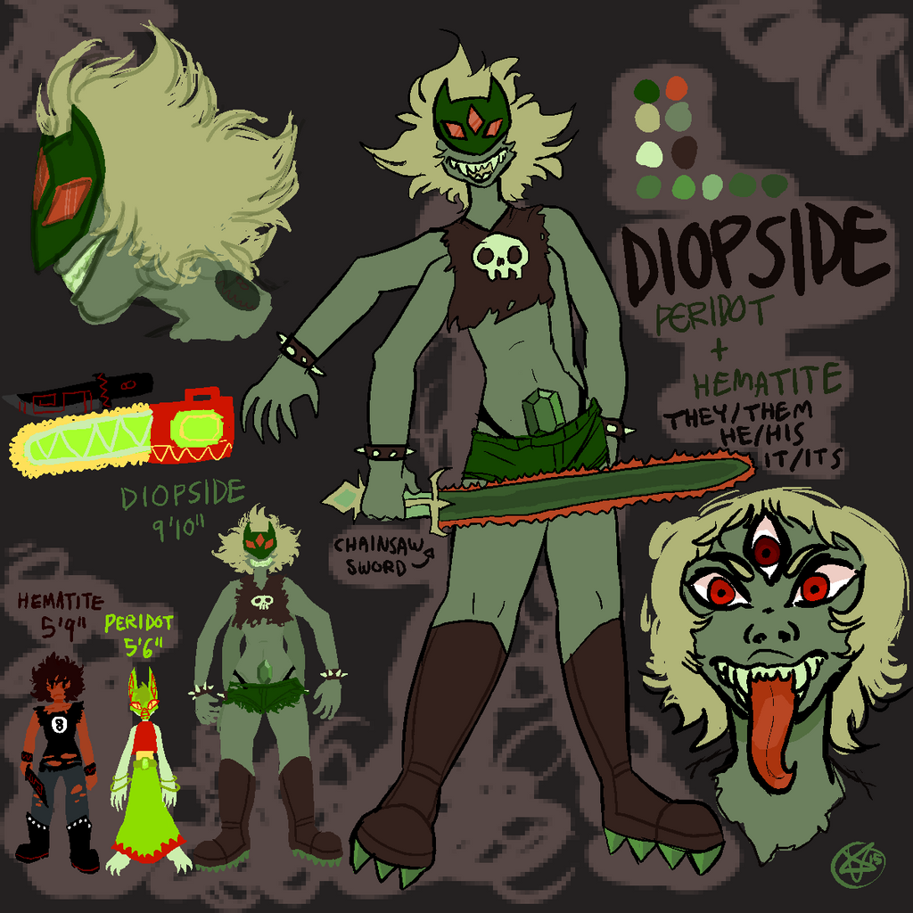 Gemsona diopside by werewoolves on deviantart