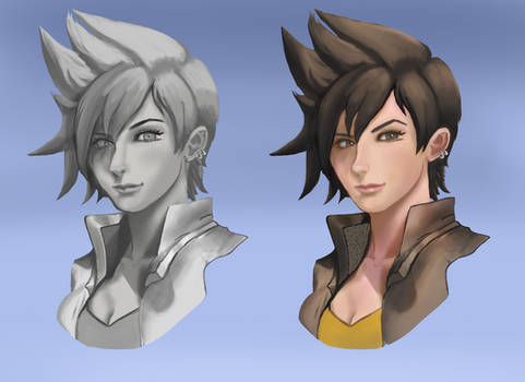 Paint Tracer: Grayscale and color