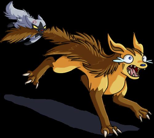 Poochyena vs Mightyena by Sklavenbrause on DeviantArt
