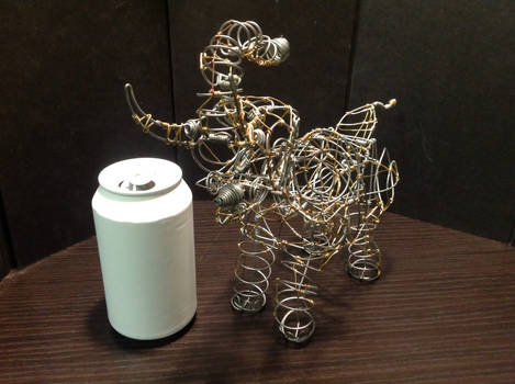 Wire Trumpeting Elephant