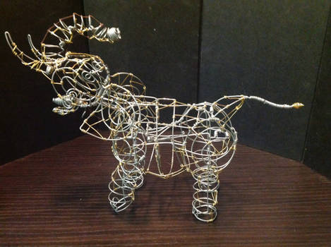 Wire Trumpeting Elephant 2