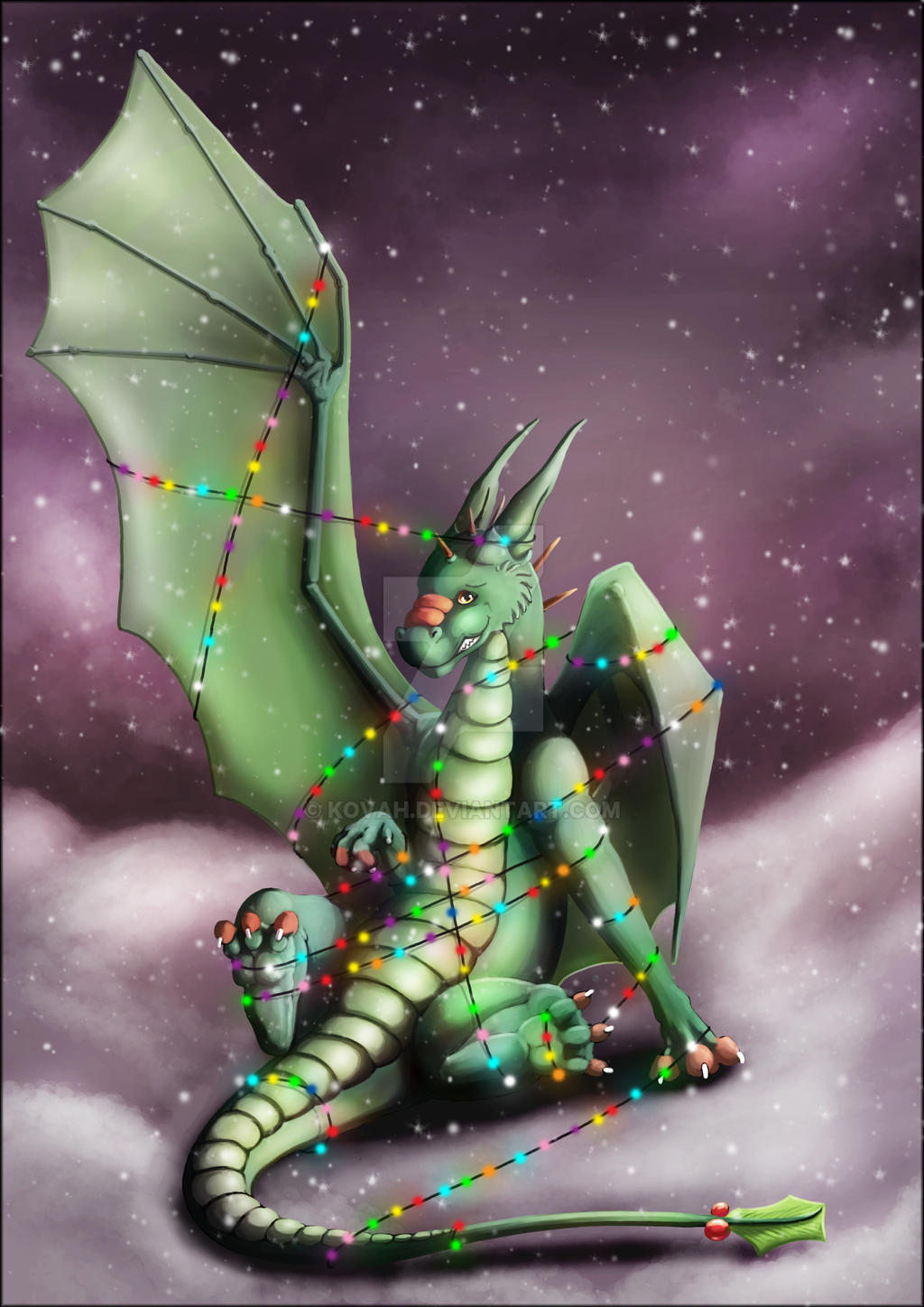 Christmas Dragon Lairy Fights by kovah on DeviantArt