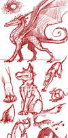 Red Doodles by kovah