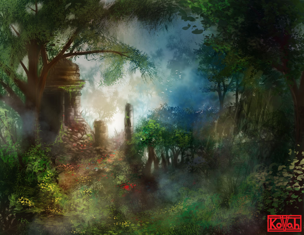 Jungle Temple by kovah