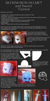 Iron Helmet and Sword cosplay tutorial