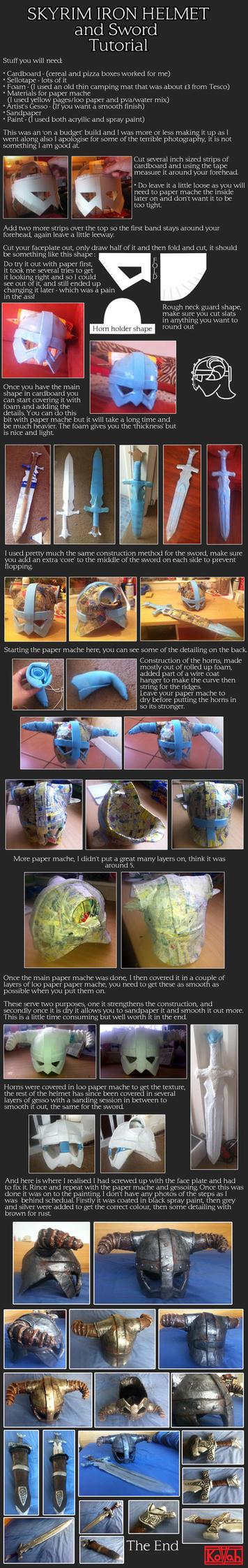 Iron Helmet and Sword cosplay tutorial by kovah
