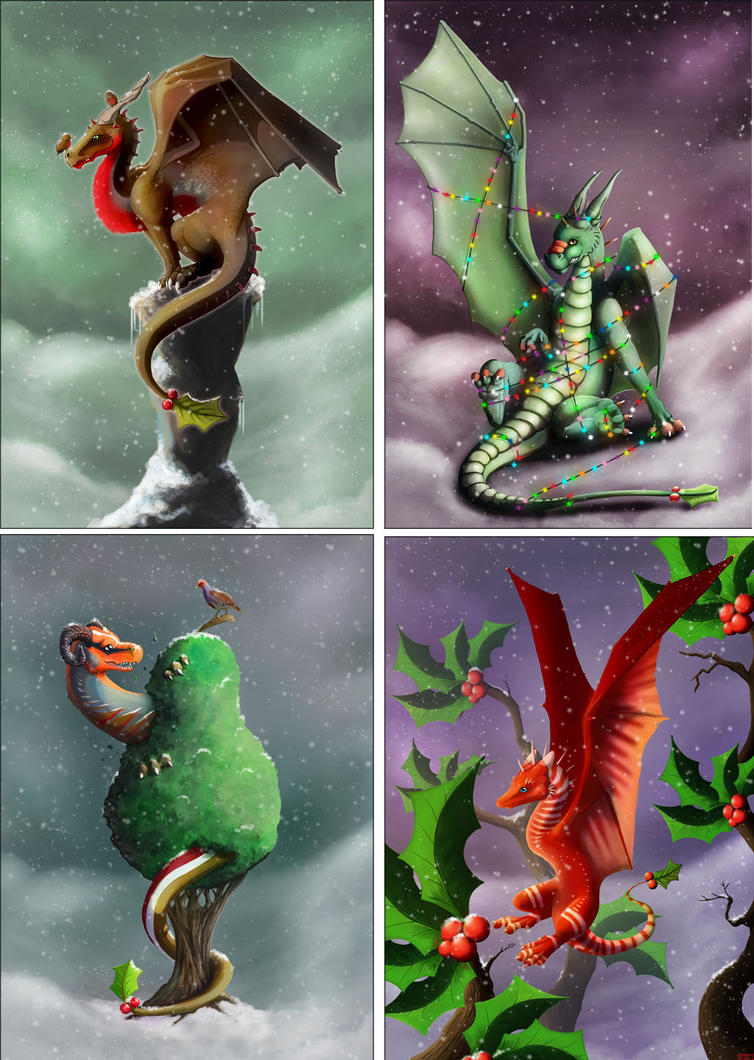 Dragon Christmas Cards by kovah