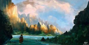Golden Cliffs by kovah