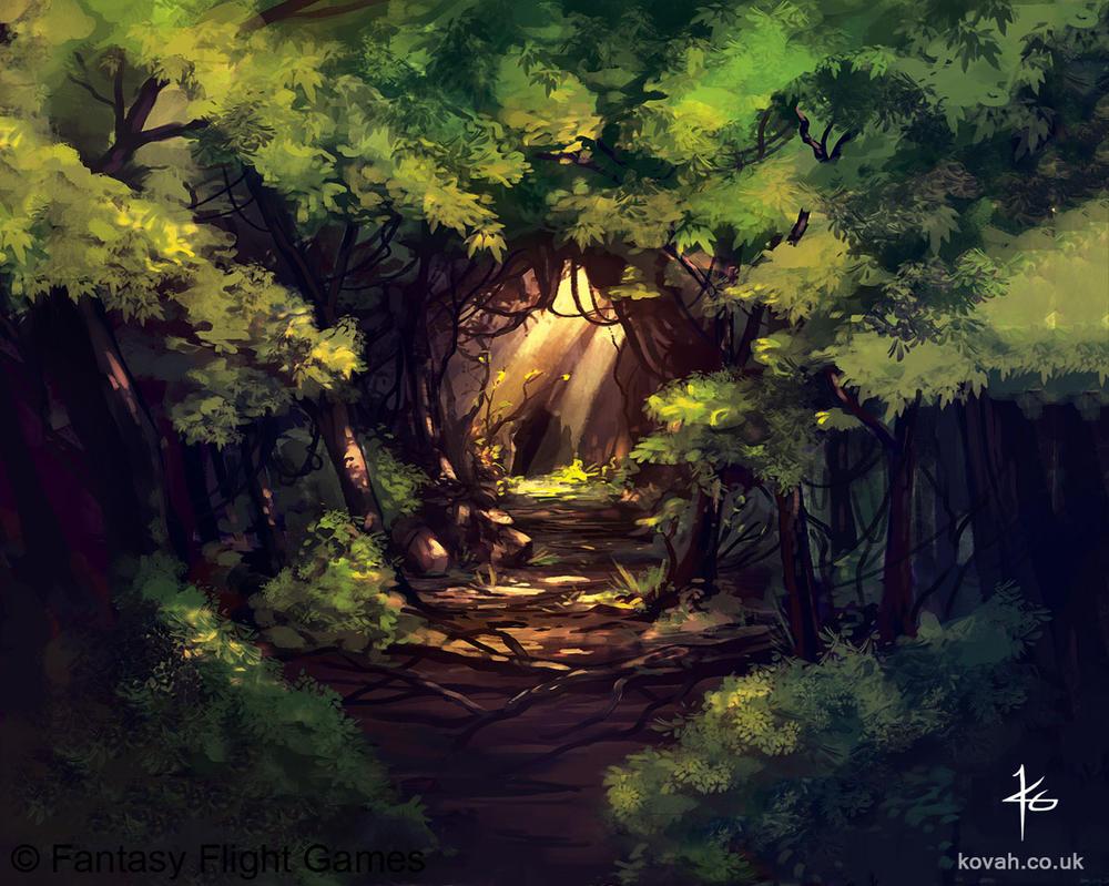 Winding Cavern by kovah