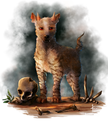 Hell Hound puppy by kovah