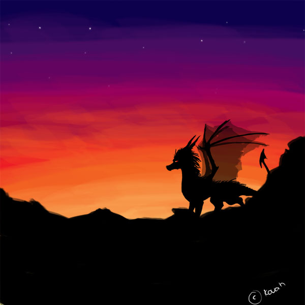 Sunset Dragons by LiszArts on DeviantArt |Dragons And Sunsets
