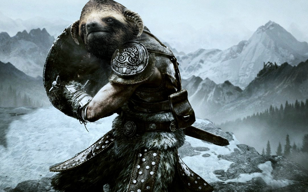 Skyrim Dova-sloth by JiPoJiP