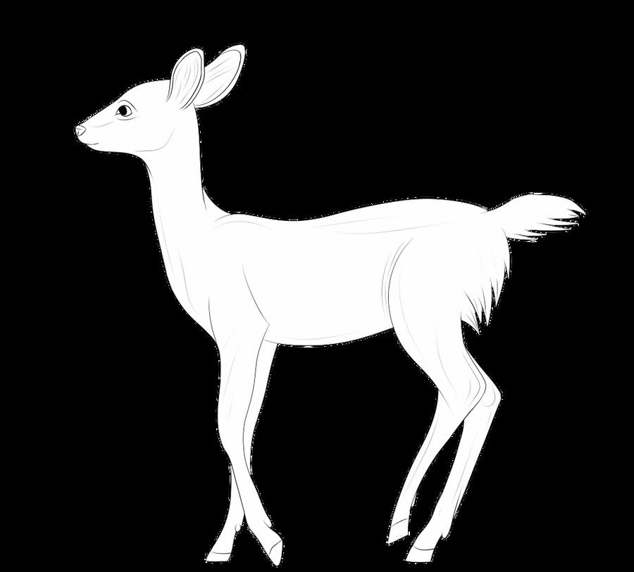 Line Drawing Deer : Free deer lineart by r ckers on deviantart