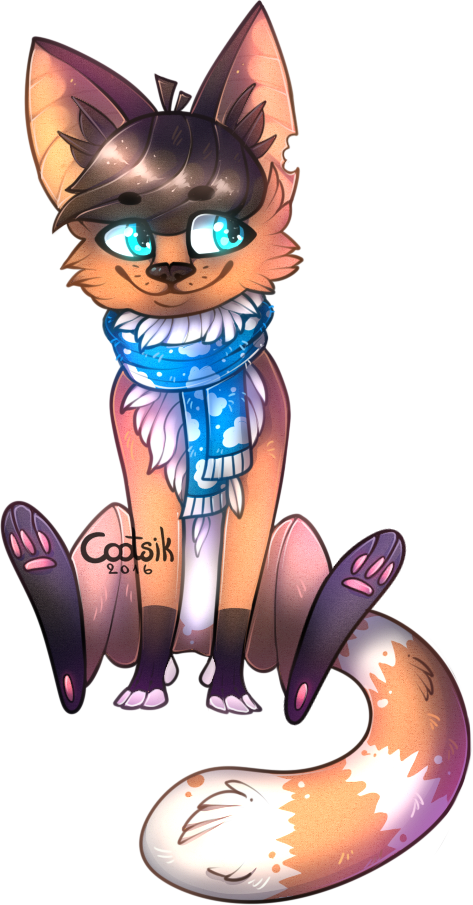 Design #9 - Fox With Sky Scarf by Cootsik