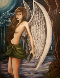 Angel's Starry Night by eldarwen