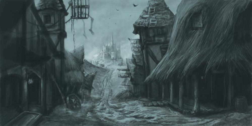 Medieval Village Wip By Jenniferkearney On Deviantart