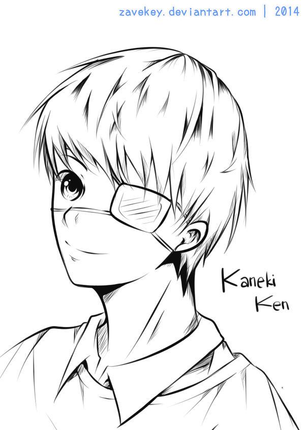 Kaneki Lineart : Kaneki ken lineart by zavekey on deviantart