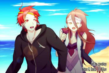 Aidan and Daesi by zaverei