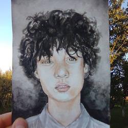Watercolor boy
