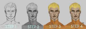 Aquaman portrait process