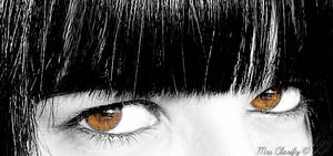 In your brown eyes..