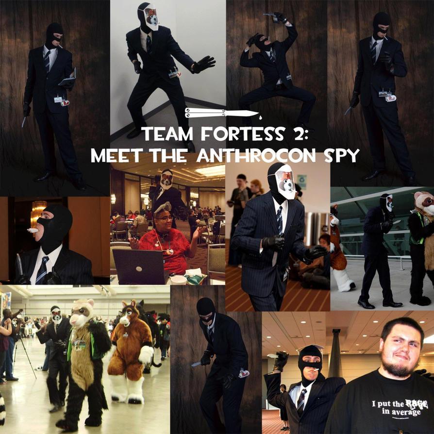 TF2: Meet the Anthrocon Spy by KitKiama