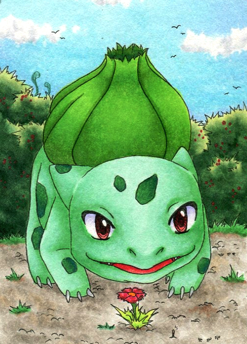 #166 [Bulbasaur discovers nature] by Takuichi