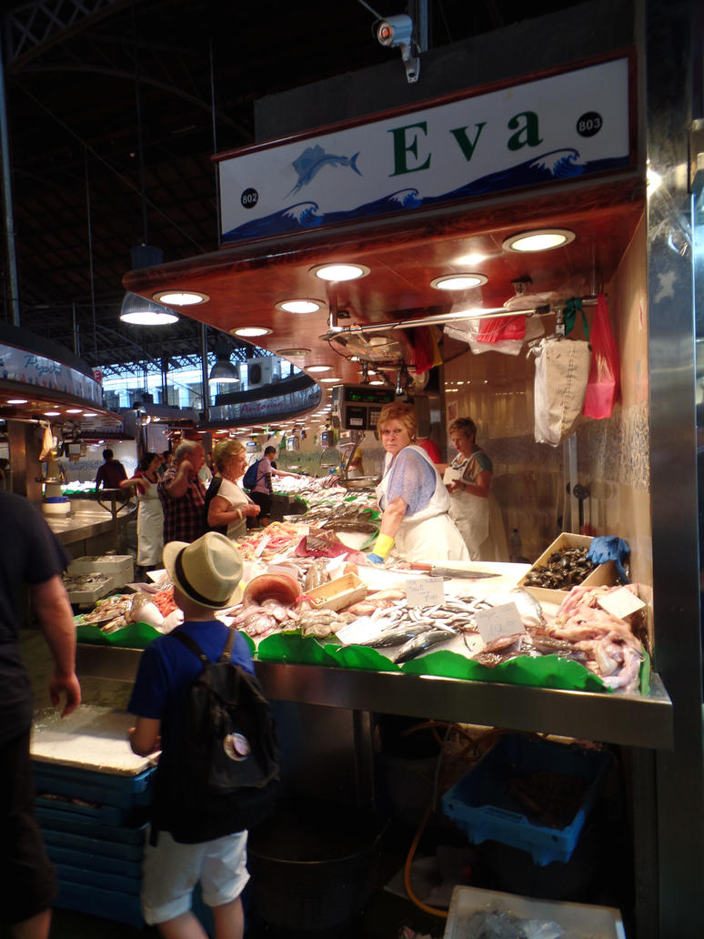 La Boqueria Market I by wickedlovelyfaery
