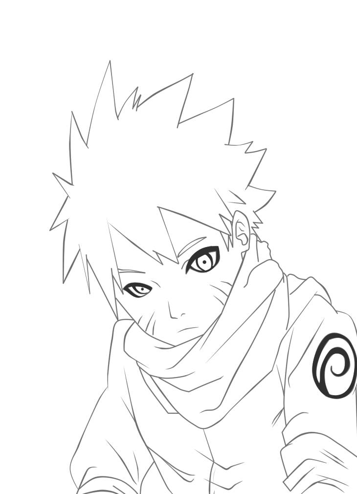 Naruto Lineart : Naruto line art by madnesssss on deviantart