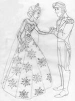 Elsa et Hans au bal d'hiver. by Astrogirl500