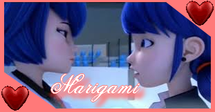 Miraculous Shipping ~ Marigami Stamp by Astrogirl500