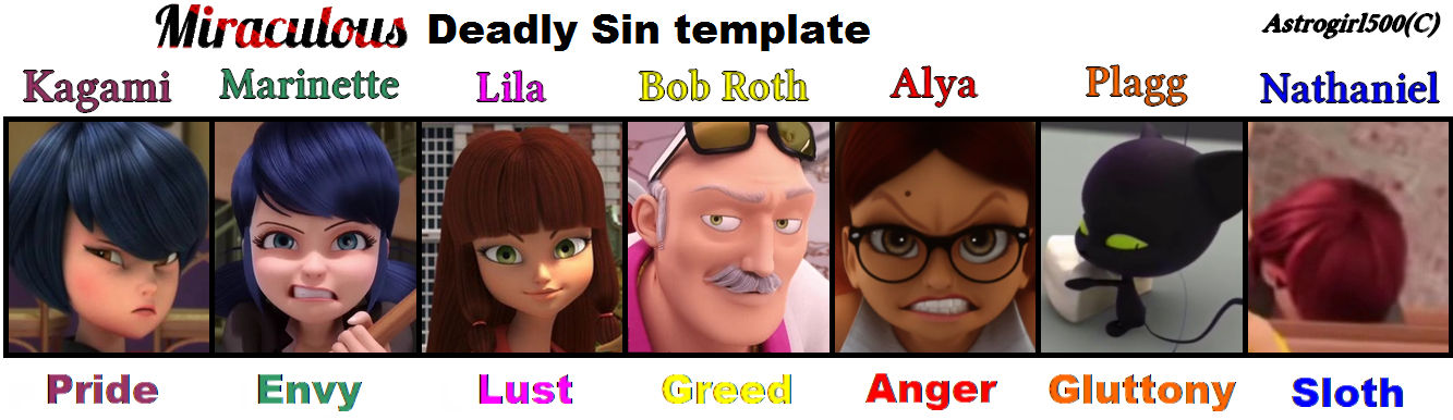 Deadly Sin in MIRACULOUS! {Template}