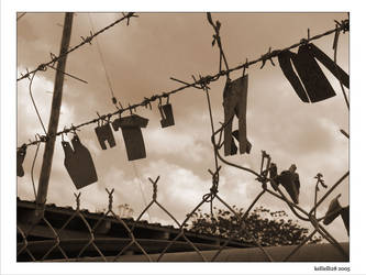 A Clothes Line of sorts by kellielli28