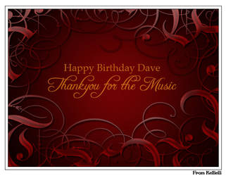 Happy Birthday Dave