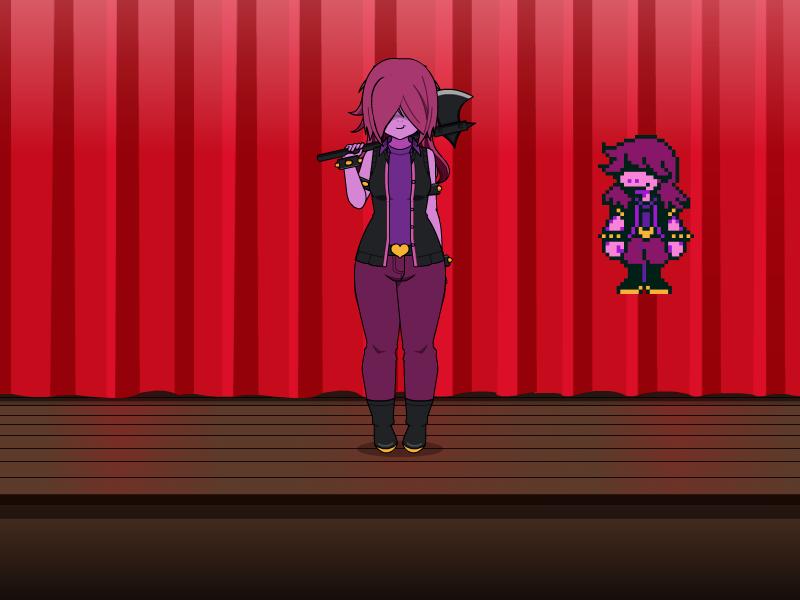 Kisekae 2 - Deltarune Susie by balloonfuckboy