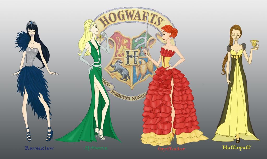 Hogwarts Houses By AvieHudson ...