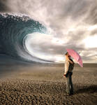 big wave in the desert