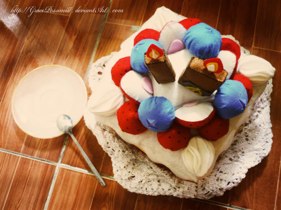 dA 10th Birthday Cake by GracePessimist
