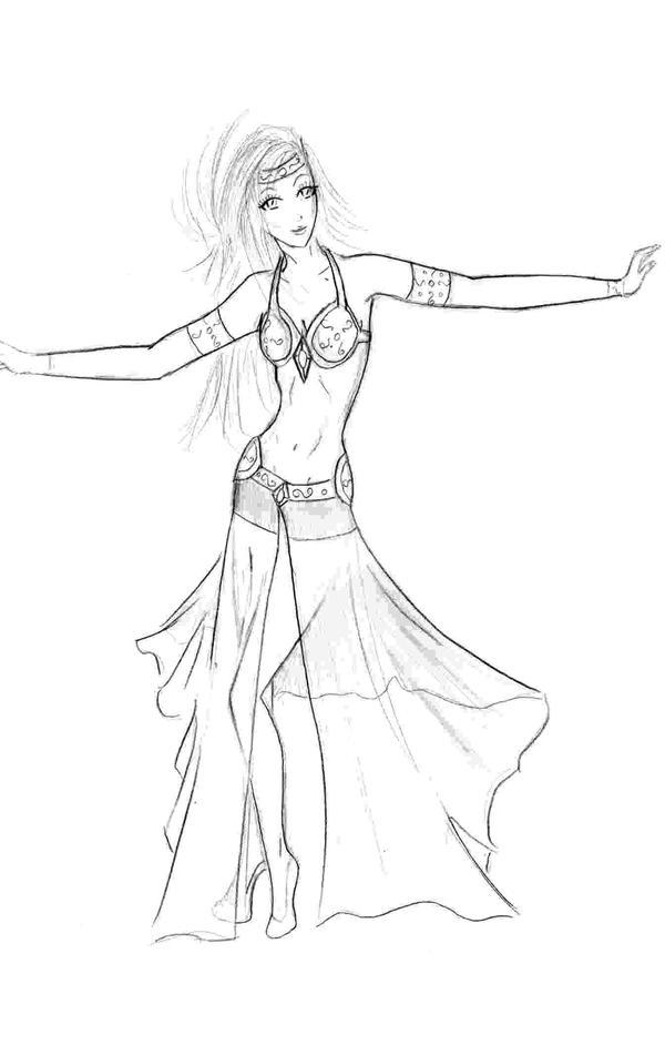Danseuse orientale by soraya217 on deviantart - Danseuse orientale dessin ...