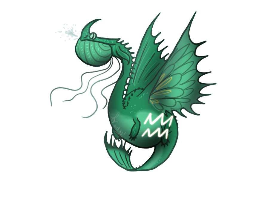 Dragons Zodiac Symbols Aquarius Sclaudron By Ad321 On Deviantart