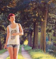Walking in the sun..